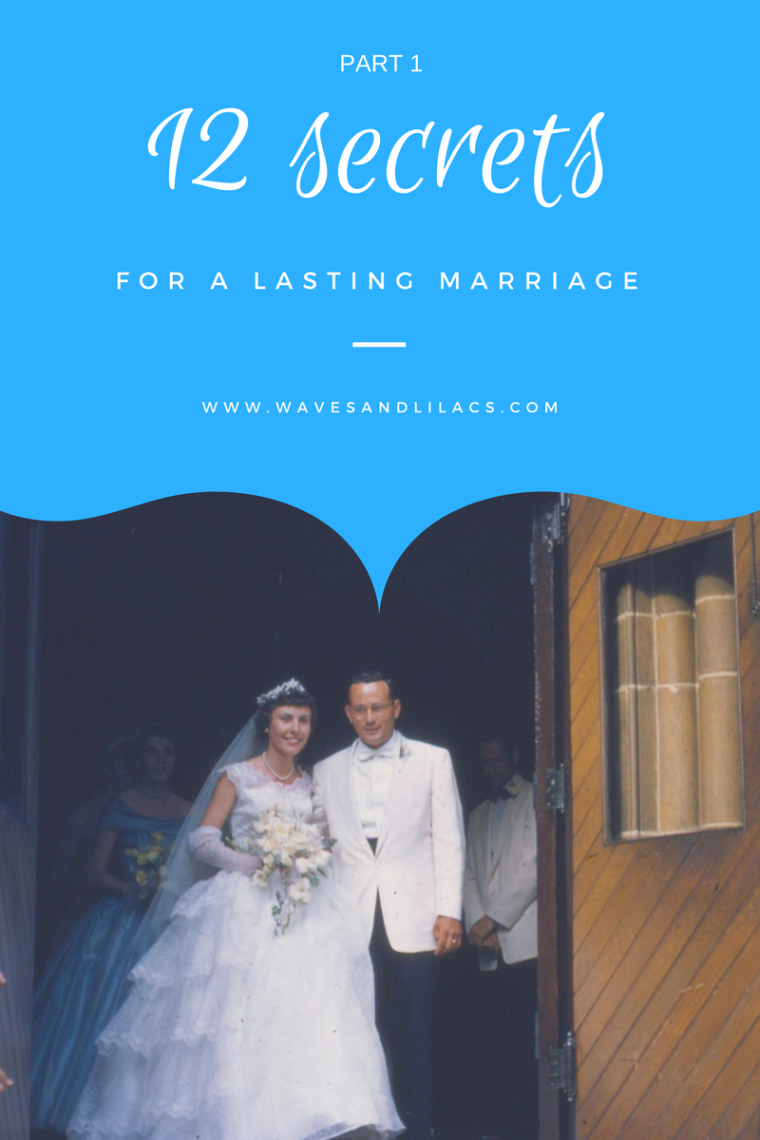 12 secrets for a lasting marriage, love life, waves and lilacs