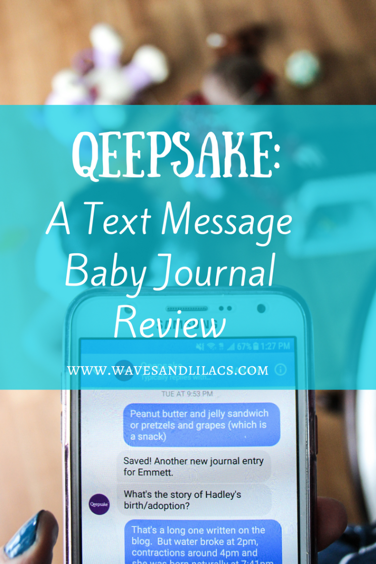 qeepsake review: text message baby journal baby book by www.wavesandlilacs.com